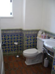 Love this tile work both the floor and walls