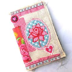 Handmade Art Journal  fabric covered Scrap by ArjatisDaughter, $52.00