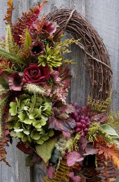 Fall Wreath, Tuscany, Autumn Decor, Elegant Floral Wreath, Thanksgiving Wreath on Etsy, $169.00