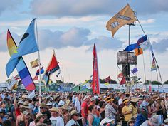 Flags at Jazzfest