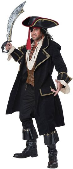 Adult Deluxe Pirate Captain Costume