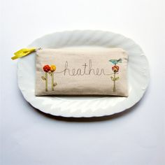 personalized clutch purse, customized with name, personalized gift, mother's day gift TO ORDER by mamableudesigns on etsy