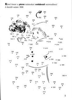 Játékos matematika - kisferenc.qwqw.hu Decimal, Dot To Dot Printables, Math Class, Math Games, Grade 1, Dots, Album, Activities, Signs