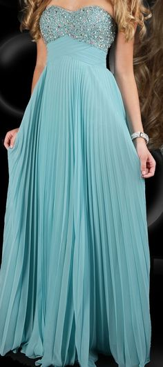 Teal Prom Dress. I think I'm gonna go with teal