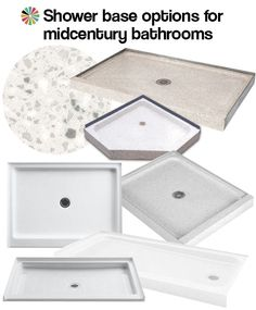 9 shower bases in 4 different materials that could be great for midcentury bathrooms - Retro Renovation