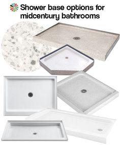 shower bases midcentury bathrooms