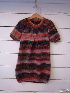 vestido para niña tejido con lana kathmandú de katia