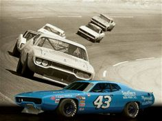 Plymouth 426 HEMI Road Runner by Richard Petty wins the 1971 Daytona 500 Nascar Autos, Nascar Race Cars, Old Race Cars, Plymouth Road Runner, Richard Petty, King Richard, Speedway Racing, Motor Speedway, Best Muscle Cars