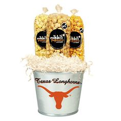 Texas Longhorns Popcorn Tin Pail