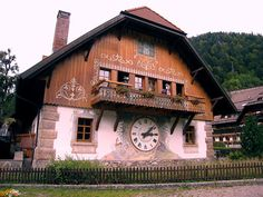 This is one of the biggest cuckoo clocks in black forest region of Germany