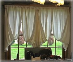 Tobacco Cloth Curtains | Wooden windows, Primitives and Window