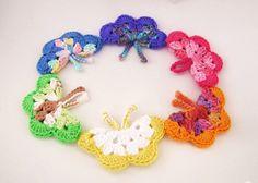 BUTTERFLIES LARGE Butterfly hair clip pin brooch by DeeDeesDetails, $3.75