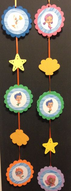 Bubble Guppie Hanging Garland Decoration by HandmadePartyDeco, $7.00