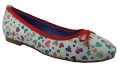 Gorgeous flat shoes with cute hearts. Now available at www.shoefun.com.au
