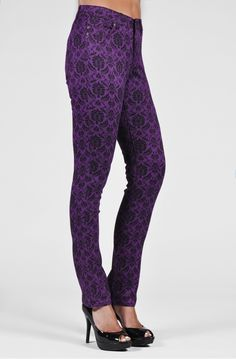 Stitch Fix Stylist:  Sadie Straight - Plum: Liverpool Jeans, LOVE this color and pattern!