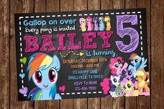 Mi pequeño Pony invitación PP04 por Denleys en Etsy