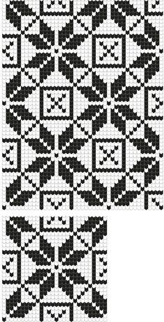 Tapestry Crochet Patterns, Fair Isle Knitting Patterns, Knitting Charts, Mosaic Patterns, Knitting Stitches, Broderie Bargello, Bargello Quilts, Crochet Chart, Crochet Motif