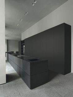 | kitchen | matte black | cabinetry | concealed |