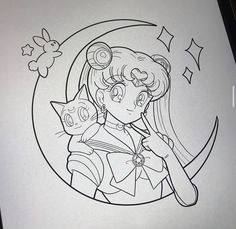 Cool Art Drawings, Art Drawings Sketches, Sailor Moon Coloring Pages, Gaming Tattoo, Crochet Amigurumi Free Patterns, Sailor Moon Art, Anime Tattoos, Tattoo Stencils, Art Reference Poses