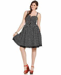 American Rag Plus Size Sleeveless Polka-Dot Dress - Junior Plus Sizes - Plus Sizes - Macy's
