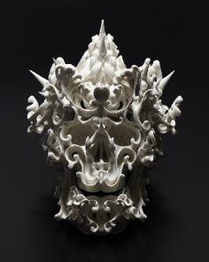 Porcelain Skull by Japanese artist Katsuyp Aoki, 2014