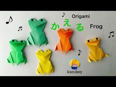 Jpapanese Origami creator kamikey' s original origami works and traditional models. I like to create kawaii origami. Gato Origami, 3d Origami, Origami Easy, Origami Cards, Origami Paper Folding, Paper Animals, Origami Animals, Origami Umbrella, Diy For Kids