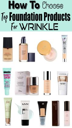 Best Face Makeup To Hide Wrinkles You Can Buy In Los Angeles - I know we're supposed to era gracefully…but psh, no matter what. Foundation For Oily Skin, Best Foundation, No Foundation Makeup, Drugstore Foundation, Best Face Makeup, Top Foundations, Maybelline Baby Skin, Face Wrinkles, Makeup Cosmetics