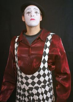 mime clowns | silent clown mime traditional mime appearance using the human body ...