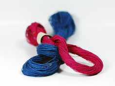 Small Skein of Colored Paper Twine by PaperPhine