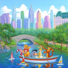 Friends in the Park - Art and Paintings by Artists Wyland, James Coleman, Rodel Gonzalez, Dan Mackin,
