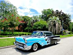 Welcome new Route 66 Cruisers Car Club member Niles Stephenson and his 1957 Chevy Belair, 2 door hardtop.