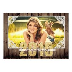 """Country 2015 Graduation Announcement 5"""" X 7"""" Invitation Card $2.01 each, save on bulk orders everyday at Zazzle.com"""