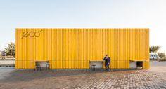 Bar Eco: Rehabilitación de una edificación existente del arquitecto Giuseppe Gurrieri. Fotografía: Filippo Poli.