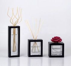 중국 100ml Square Fragrance Rattan Glass Reed Diffuser with Sola Flower TS-GRD06 협력 업체