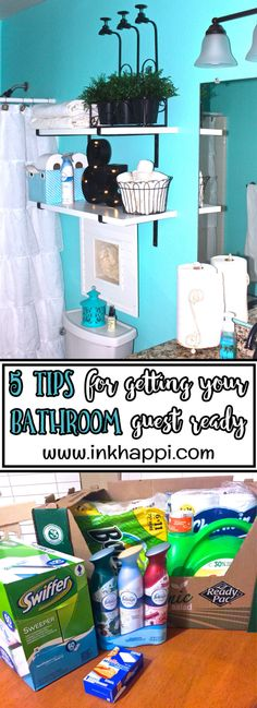Guest bathroom Ideas and 5 Tips for getting your bathroom guest ready. #HostingHacks #Ad @Costco