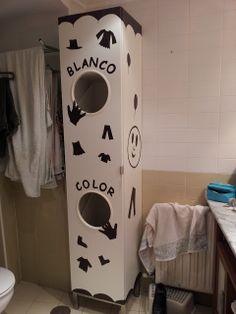 Un armario para la ropa muy original. Y tú, ¿cómo lo decorarías?