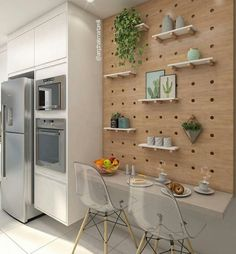 Kitchen apartment modern countertops 70 Ideas for 2019 Kitchen Flooring, Kitchen Furniture, Kitchen Interior, Rustic Kitchen, Diy Kitchen, Kitchen Decor, Kitchen Pegboard, Kitchen Ideas, Diy Cozinha