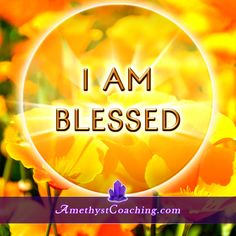 Today's Affirmation: I Am Blessed Visit us www.amethystcoaching.com Personal Coaching Site #affirmation #coaching Like Us https://www.facebook.com/amethystcoaching?ref=hl