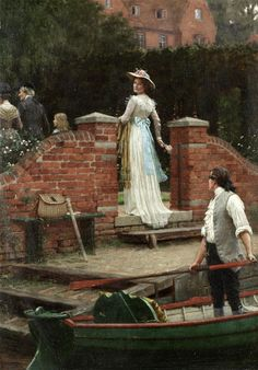 """The glance that enchants"" (1902) von Edmund Blair Leighton (geboren am 21. September 1853 in London, gestorben am 1. September 1922 in London), englischer Maler."