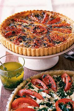 Tomato and Camembert Tart - CountryLiving.com