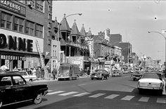 rue Mont- Royal côté nord vers l'est coin rue Berri/1961 by Le présent du passé Montréal., via Flickr