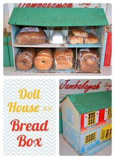 Doll House Bread Box -- Repurpose vintage finds as functional decor: Scenes from a Tiny Kitchen: Creative Kitchen Decorating and Storage