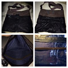 Leather bag made from 5 different leather jackets. By k8created Tasmania