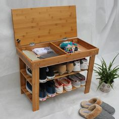 Shoe racks in the hallway with their hands: images in a style hallway