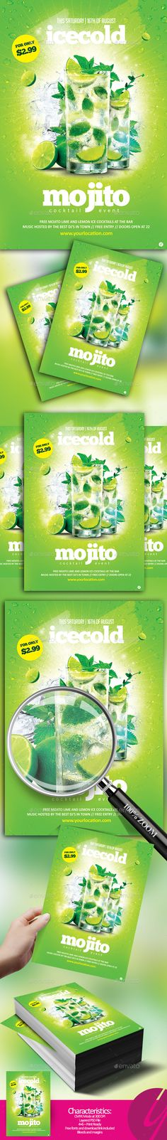 Icecold Mojito Cocktail - Clubs & Parties Events