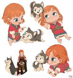 "Adventures of Kayla ""Kayla & Loto's infancy"" on Behance"