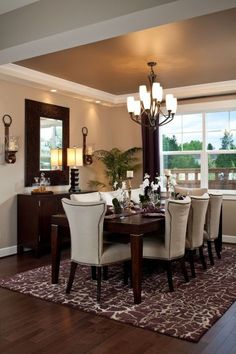 Best Ceiling Paint Color Ideas and How to Choose It Dining room paint, Dining room colors Dining Room Paint Colors, Dining Room Walls, Dining Room Sets, Dining Room Design, Brown Dining Rooms, Paint Colours, Wall Colors, Dining Decor, Living Room Decor