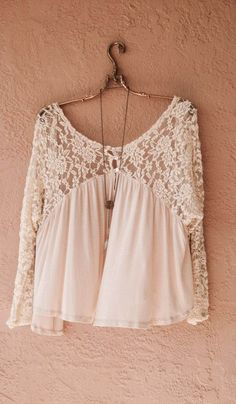 Free People swing trapeze lace sleeve blush nude peasant top