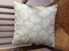 Coastal Coral and Leopard 17 Pillow by Caswellandcompany on Etsy, $21.25