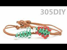 [305DIY]크리스마스트리 비즈 매듭팔찌만들기,christmastree bead knot bracelets DIY tutorial